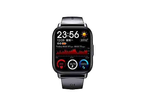 XYJ Smart Watch para teléfonos Android y teléfonos iOS con ritmo cardíaco Sleep Monitor Sports Watch con 24 modos deportivos 5 ATM a prueba de agua, control de música 30 días de duración de la batería