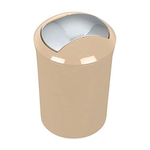 """Spirella Design Kosmetikeimer 10.16876\""""Sydney mit Schwingdeckel 5 Liter (ØxH): 19 x 30 cm Beige"""