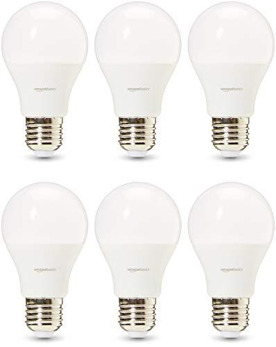 AmazonBasics Professional - Bombilla de tipo Edison LED, casquillo E27, equivalente a 60W, blanco frío - juego de 6
