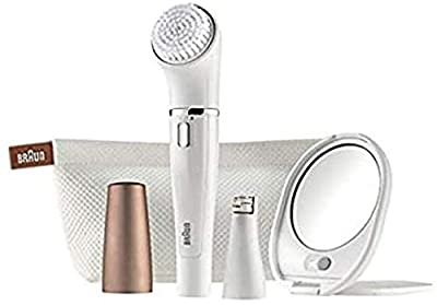 High Quality Braun Face 831 Beauty Edition - Facial Cleansing Brush and epilator with Lighted Mirror and Beauty Pouch
