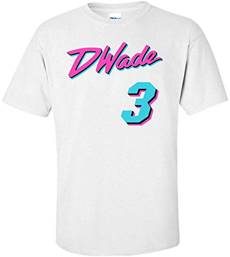 Siuwud White Miami Wade Miami Vice T-Shirt Adult (M)