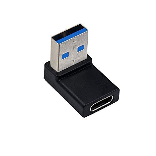 DALIN 90 Degree USB C Type C Female to USB 3.0 Male Charging OTG Adapter Converter