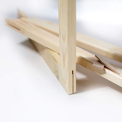 Generisch Keilrahmen Bausatz 2 cm Holzleisten Set selbst zusammenbauen ohne Leinwand (40 x 50)