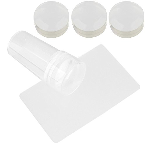 Beauty7 Nail Art Tampon Stamping Et Racloir Vernis a Ongle Gel Sceaux Cachet Transparent Stamp & Scraper Pour Ongle Manucure