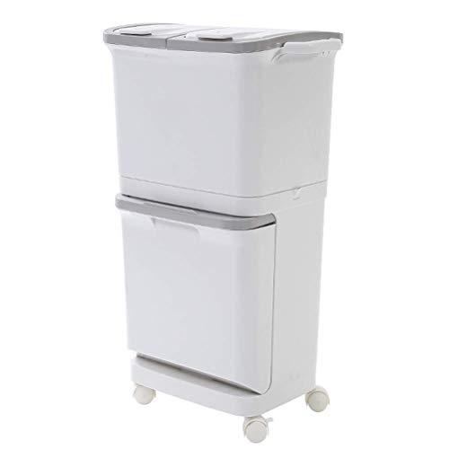 犬 Weiß 42 Liter / 11 Gallonen Compact Slim Badezimmer Oder Büro Step Trash Can Kunststoff 1106