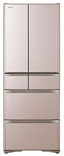 日立 冷蔵庫 505L 6ドア 強化ガラスドア 観音開き 日本製 幅68.5cm 真空チルド R-XG51J XN クリスタルシャンパン