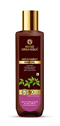Khadi Organique, Anti Dandruff Hair Oil For Men And Women, SLS & Parabeen Free, Brown, 200 ml