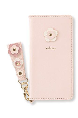 salisty iPhone SE 2020 第2世代/8/7/6s/6 ケース 手帳型 フラワースタッズ [ベビーピンク]