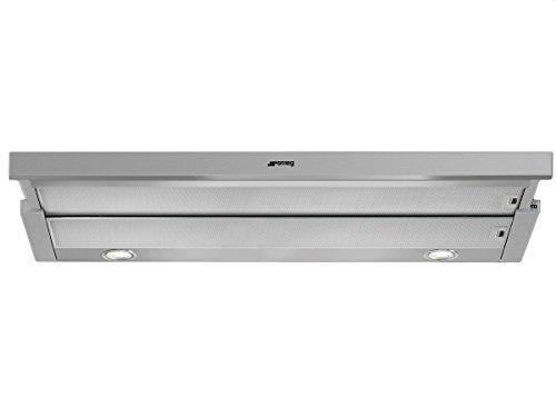 Hotte tiroir Smeg KSET900XE - Hotte aspirante Intégrable - largeur 90 cm - Débit d'air maximum (en m3/h) : 581 - Niveau sonore Décibel mini. / maxi. (en dBA) : 45 / 66