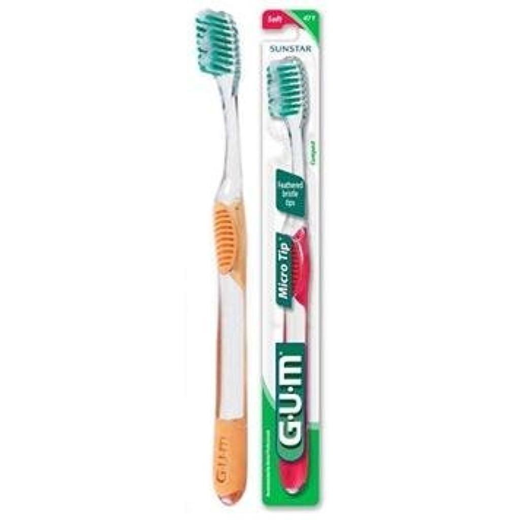 パノラマ勢い階段海外直送肘 Gum Micro Tip Toothbrush Soft/Compact, Soft/Compact 1 each
