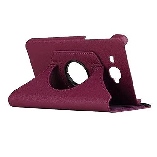 LIUCHEN Funda de tableta360 Funda giratoria de Cuero PU para Samsung Galaxy Tab A A6 7.0 T280 285 SM-T280 SM-T285 Funda para Tableta Smart Stand, Morado