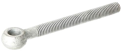 GAH-Alberts 411213 Augenschraube ohne Zubehör | passend zu Torbändern | feuerverzinkt | Gewinde M16 | Anfang Gewindestange - Mitte Augenschraube 130 mm