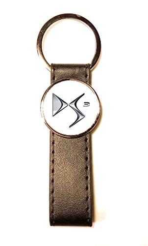 Porte-clés Acier/Simili Cuir Classic Circle DS3