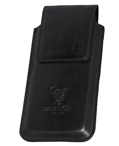 MATADOR Lederhülle Ledertasche Ledercase kompatibel mit Galaxy S8 Plus Natur Schwarz