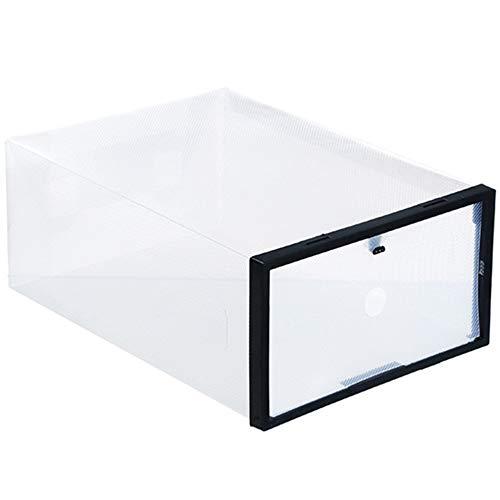 HHuin Caja de Zapatos Transparente de Cristal Grueso portátil Caja de Almacenamiento de Zapatos con cajón Plegable de plástico DIY 135g