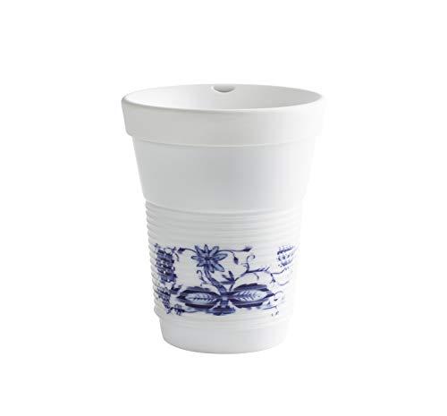 Kahla cupit MG porcelain white+Zwiebelmuster Becher 0,35 l + Trinkdeckel 10x2 cm