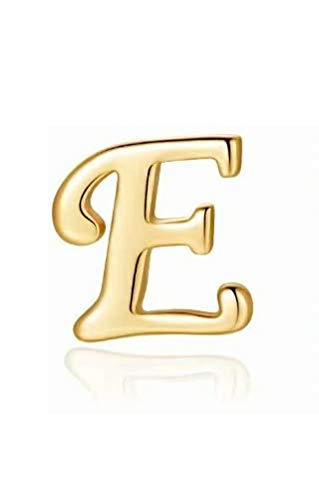 Hypoallergenic Earrings for Girls&Women-14K Gold Plated Dainty Letter Initial Stud Earrings A-Z Gifts S925 Sensitive Ears
