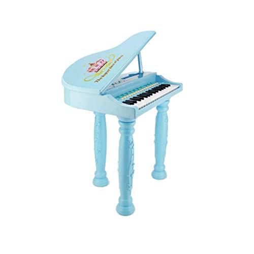 Digitale piano Children's Electronic Piano Girl Beginners Entry Piano Multi-functie kan spelen Music Toys externe hoofdtelefoon mobiele telefoon microfoon Zingende 3-6 jaar oud (Kleur: Roze)