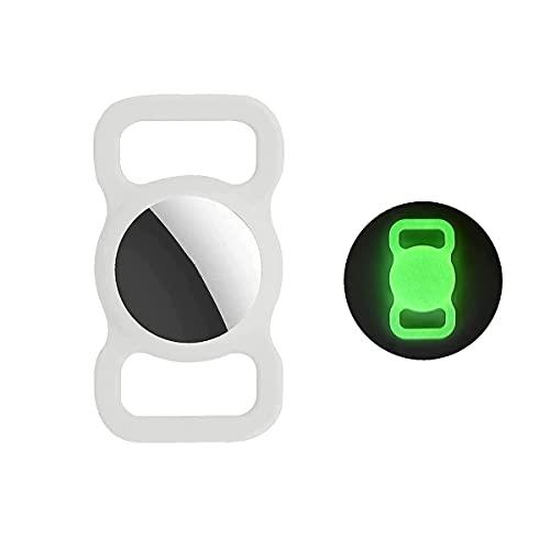 TeeFly Funda Protectora Compatible con el Collar, Soporte de Silicona para Collar de Perro y Gato, GPS Finder Dog Dog Loop Holder para Apple Air_Tags