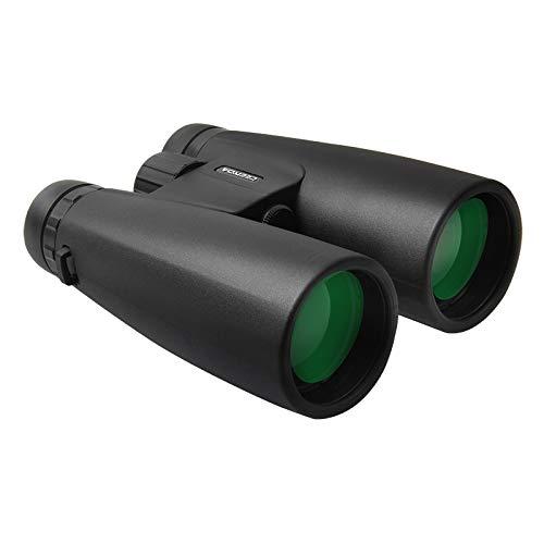 CAMOLA Prismáticos prismáticos de techo de 12 x 50 para adultos, HD prismáticos profesionales para caza, observación de aves, viajes, visitas turísticas, conciertos deportivos BAK4 prisma FMC lente