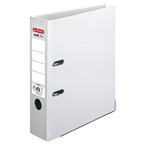 Herlitz 5480710 Ordner maX.file protect A4 (8 cm mit Einsteckrückenschild) weiss