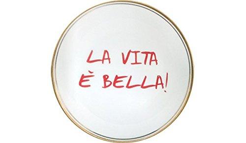 BITOSSI HOME & Funky Table LA TAVOLA SCOMPOSTA, Piatto LA Vita È Bella