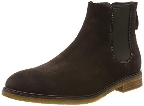 Clarks Herren ClarkdaleGoHot Chelsea Boots, Braun (Dark Brown Suede Dark Brown Suede), 43 EU