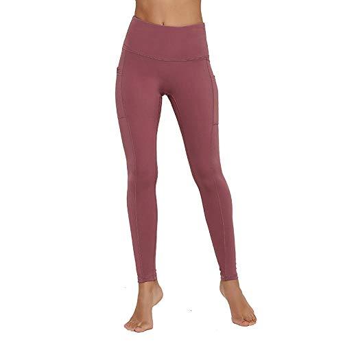 MedusaABCZeus High Waist Gym Workout Running Sports Leggings,Leggings with Pockets Women,High Waist Seamless Pocket Yoga Pants-Violet_M
