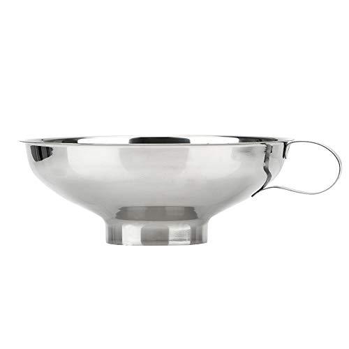 CuiGuoPing Breiter Mund Trichter, Filtertrichter, mit Armlehnen, Küchenhelfer, Edelstahl, 1 Stück (L)