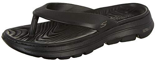 Skechers Men's Go Walk 5-Cabana Black Thong Sandals-8 UK (42 EU) (9 US) (243006-BBK)