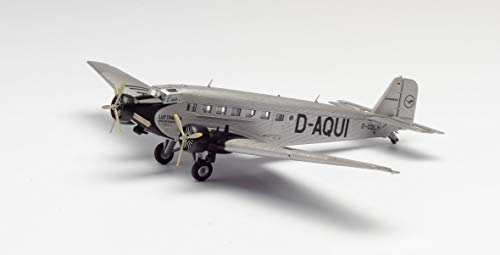 herpa 019040 – Junkers Ju-52/3 m, Lufthansa D-Aqui, Military, Flieger, Modell Flugzeug, Modellbau, Miniaturmodelle, Sammlerstück, Kunststoff - Maßstab 1:160