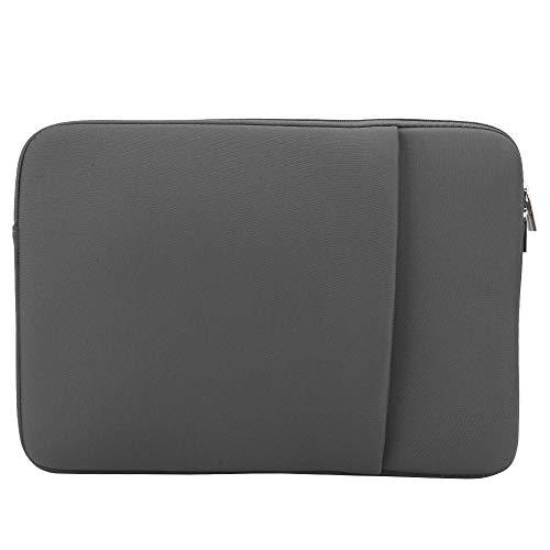 Nunafey Shockproof Brushed Bag Business Envelope Computer Bag Laptop Bag, Laptop Sleeve Case, 14 Inch Book Magazine Laptop Notebook PC Phone File for Macbook(light grey)