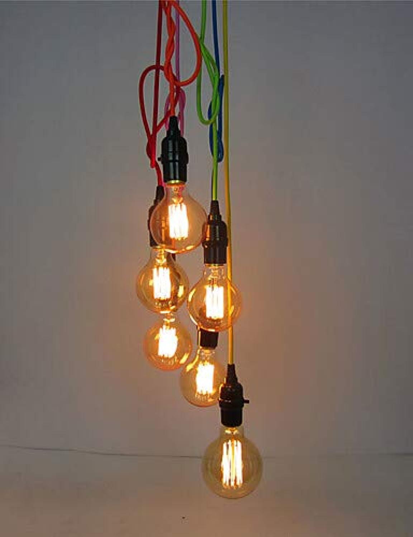 6 Kpfe Retro Anhnger Deckenleuchten Hngeleuchten, DIY-Kunst Wohnzimmer Esszimmer Arbeitszimmer Büro Entry Flur Leuchte, 220-240v  352