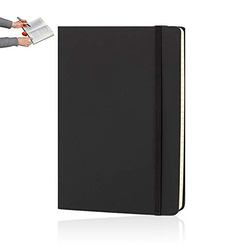 A5 Notebooks, Journal Notebook, A5 Notepad Notebook for Office School Home Business Writing & Note Taking 80gsm(Black)