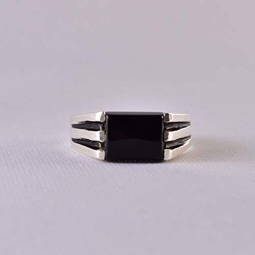 Black Aqeeq onyx aqeeq stone ring for men and women   Yemeni Aqeeq Ring Size 10