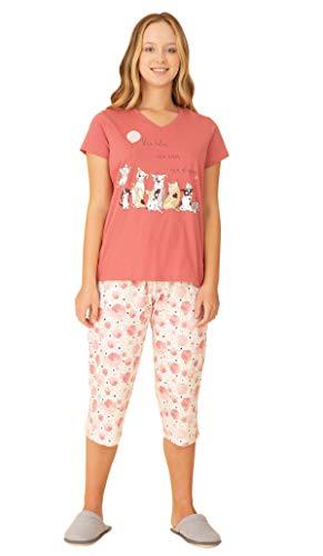 MM Dec. V Com Capri/RF 040170 Pzama, Pzama, Conjunto de Pijama, M, Pijama meia manga com Capri. Pijama produzido em meia malha. Modelagem confortavel e com liberdade de movimentos.
