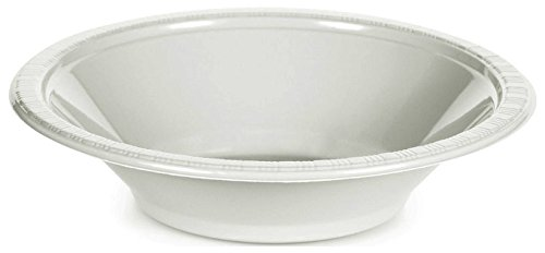 Creative Converting 28000051B Touch of Color Plastic Bowl Party Supplies, 12oz, White