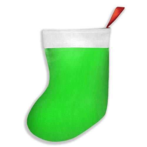 Uliykon Weihnachtsstrumpf, Neongrün, einfarbig, Weihnachtsstrumpf, Weihnachtsstrumpf, Weihnachtsbaum, Socke, Geschenk, Dekorationen für Weihnachten, Party für Familie, Urlaub, Party