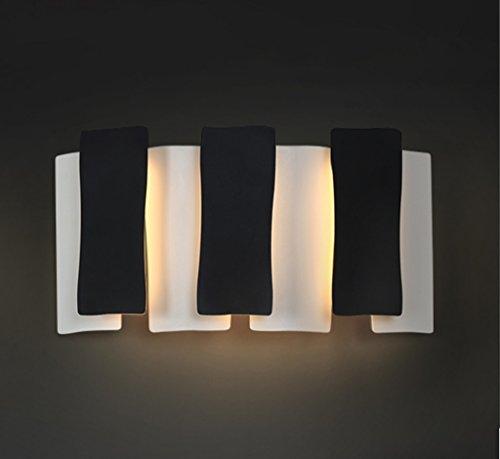 Applique Murale Salle de séjour apprenant des lumières d'escalier Post-Modernes créatives (Lampe de Mur de Piano Noire et Blanche) de Chevet de Chambre à Coucher personnalisée