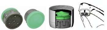 Risparmio fino al 50% di acqua e di energia - Kit 4 Filtri Riduttori di Flusso