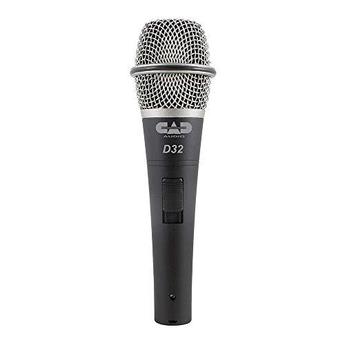 CAD Live D32X3 Dynamisches Handmikrofon 3er Mikrofon-Set optimiert für Gesang Live rückkopplungsarm und robust (XLR), inkl. Klemmen und Kunststoffcase