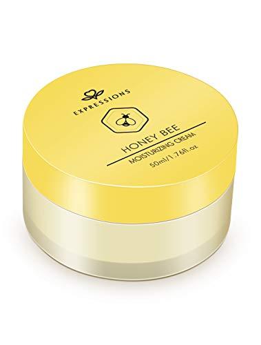 Crema hidratante hidratante de miel y abeja, hidratante hidratante hidratante hidratante hidratante y mejora la elasticidad en la piel seca, sin parabenos, 50 ml