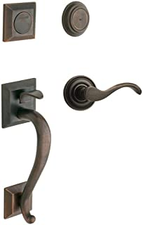 Baldwin 85320.402.LFD Madison Sectional Trim Left Hand Dummy Handleset with Classic Lever, Distressed Oil Rubbed Bronze