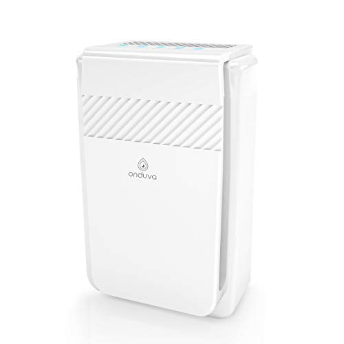 Onduva Purificateur d'Air Maison 5 en 1 | XXL Grand Volume Traité | HEPA et Ioniseur d'air | 5 filtrations | purificateur d air Ultra Silencieux - 3 Vitesses - Minuterie - Mode Nuit