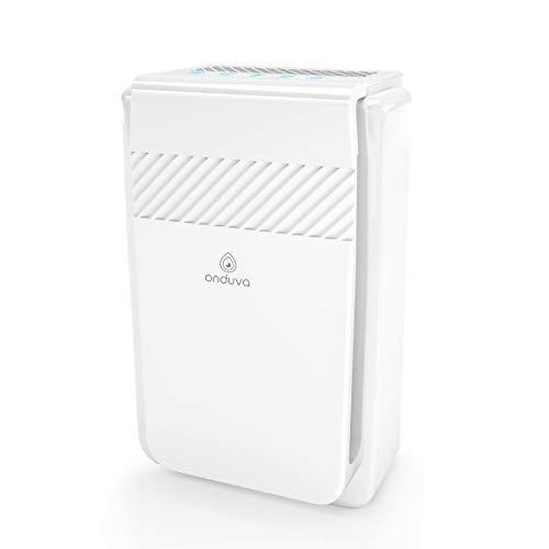 Luftreiniger für Wohnung Ionisator 5-in-1 Onduva® CADR 218m³ | 99,97% Filterleistung | HEPA-Filter | Aktivkohlefilter | Kalt-Katalysator | Lufterfrischer mit 3 Geschwindigkeitsstufen