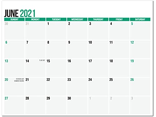 SplightPrints Magnetic Fridge Calendar Pad from June 2021 to December 2022 with Thick Tear-Off Pages and Strong Magnetic Backing (Letter Size 11 x 8.5 Inches)