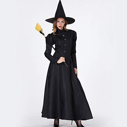 YyiHan Cosplay Disfraz, El Mago de la Bruja del Maquillaje del Traje de Cosplay de Oz Escenario Cosplay Traje de Las Mujeres del Partido del Traje del Funcionamiento de la Etapa de Hallowee