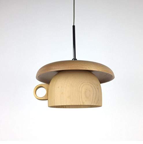 Pendelleuchte Dekorative Lampe Led Kaffeetasse Form Holzmaserung Beleuchtung Modernen Durchmesser 18Cm Kronleuchter