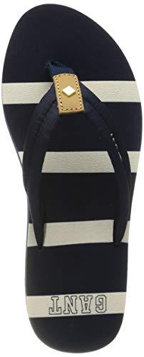 GANT Footwear Damen ST BART Zehentrenner, Blau (Marine G69), 40 EU