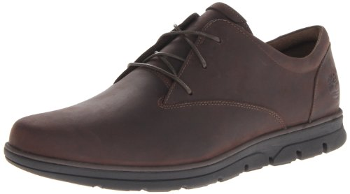Timberland Bradstreet Ox, Zapatos de Cordones Oxford para Hombre, Marrón Dark Brown 242, 44 1/2 EU